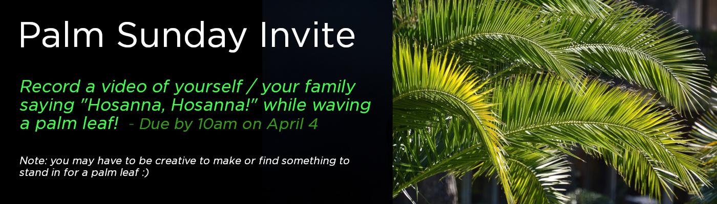 Palm Sunday Invite
